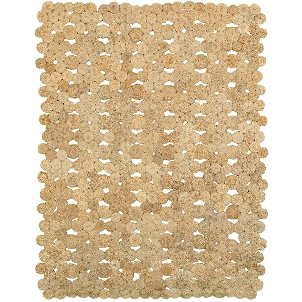 Watkins Hand-Woven Beige Area Rug by Rosecliff Heights