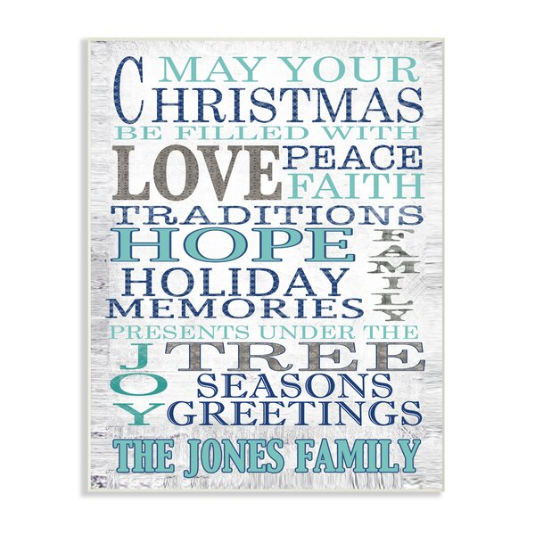 Personalized May Your Christmas Textual Art on Plaque by Stupell Industries