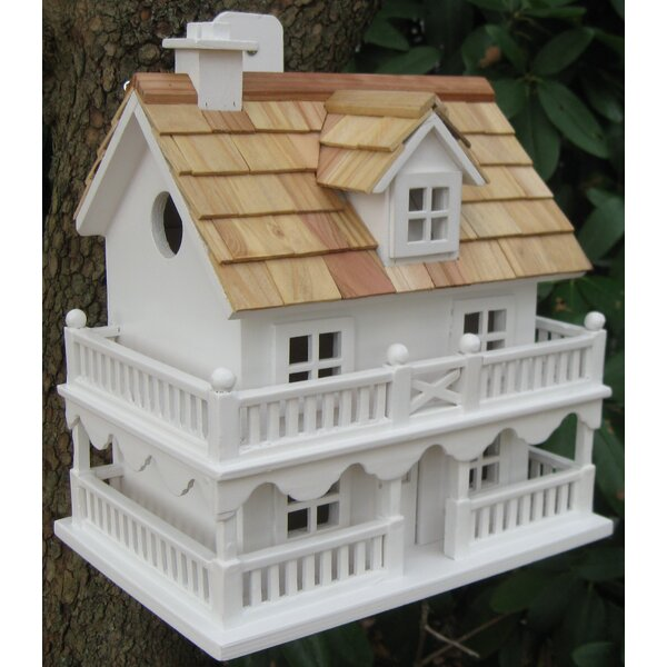 Classic Novelty Cottage 10.5 in x 7.5 in x 11 in Birdhouse by Home Bazaar