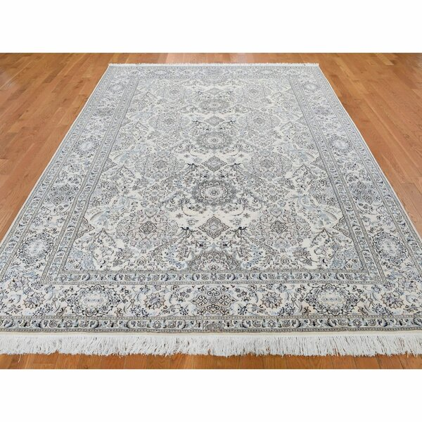 One-of-a-Kind Hand-Knotted Ivory 6'8 x 10'3 Area Rug