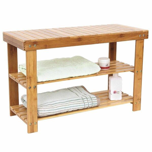 Bamboo Rack Room Shoe Storage Bench