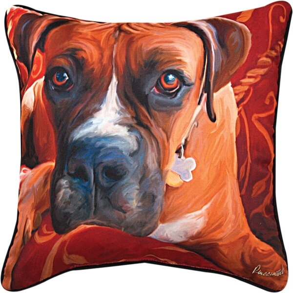 Harry Boxer Throw Pillow by Manual Woodworkers & Weavers