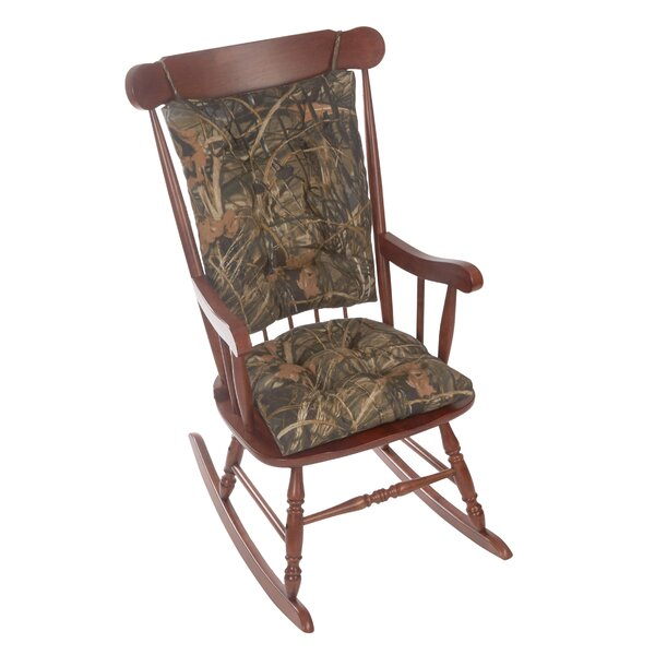 Gripper Realtree Jumbo Indoor/Outdoor Rocking Chair Cushion by Loon Peak