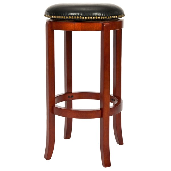 Abby 24 Swivel Bar Stool by Charlton Home