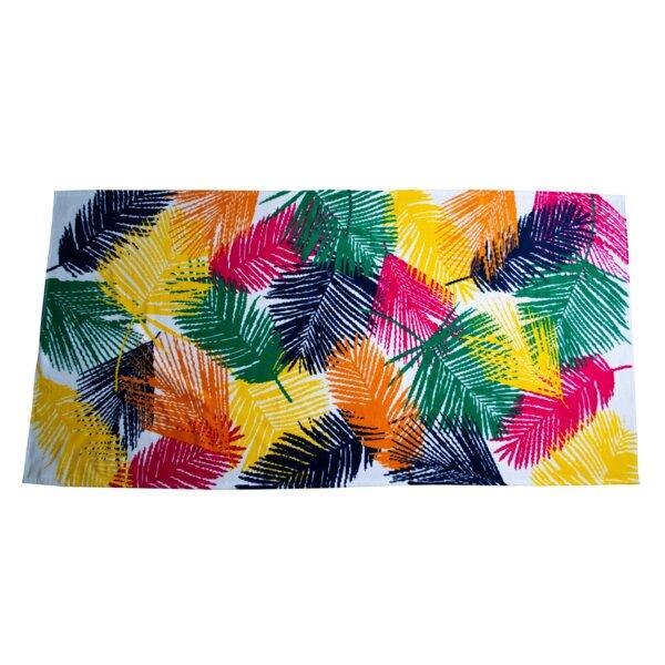 Chudleigh Palm Leaf Turkish Cotton Beach Towel (Set of 2) by Ebern Designs