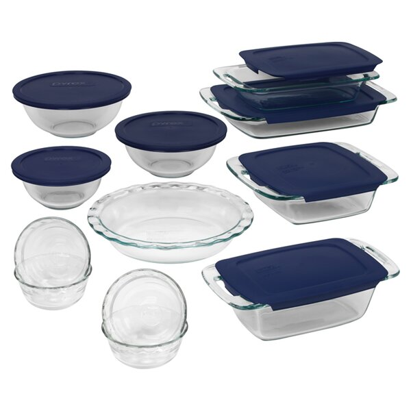 Easy Grab 19 Piece Bakeware Set by Pyrex