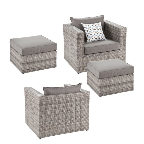 Bennett 4 Piece Conversation Set with Cushions by Wildon Home ®