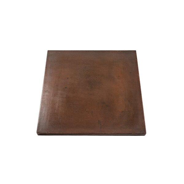 Carmelita Square Hammered Copper Table Top by World Menagerie