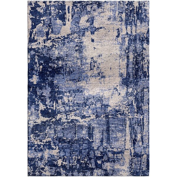 Ashford Handloom Blue/Gray Area Rug by Ivy Bronx