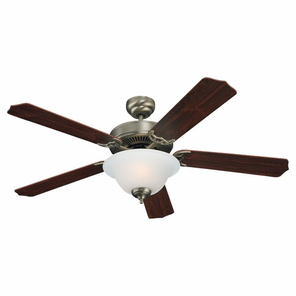 52 Acres Plus 5 Blade LED Ceiling Fan with Remote by Darby Home Co
