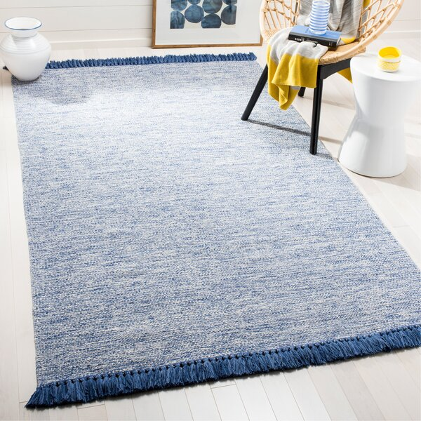 Nida Hand-Woven Blue/Gray Area Rug by Beachcrest Home