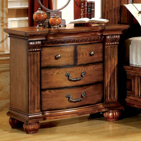 Weimar 3-drawer Nightstand By Astoria Grand