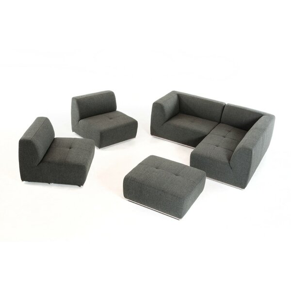 Home & Outdoor Lumpkin Right Hand Facing Modular Sectional With Ottoman