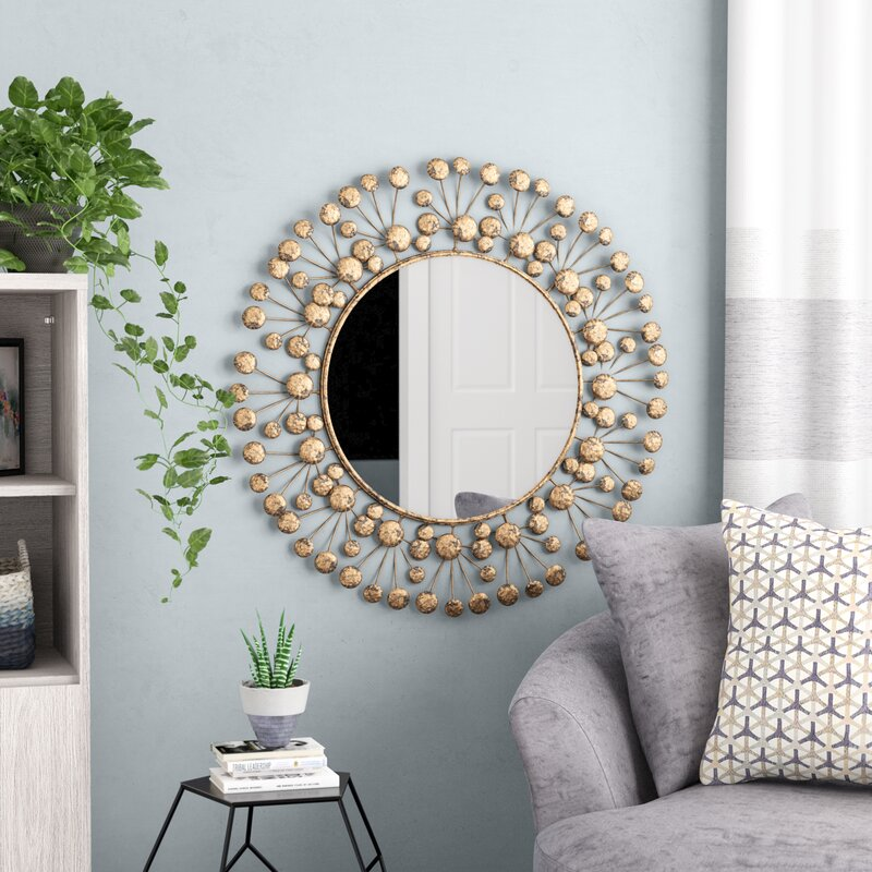 Brayden Studio Eisenbarth Oversized Decorative Round Wall Mirror