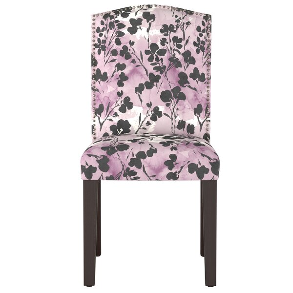 Mireille Camel Back Floral Upholstered Dining Chair by Latitude Run Latitude Run