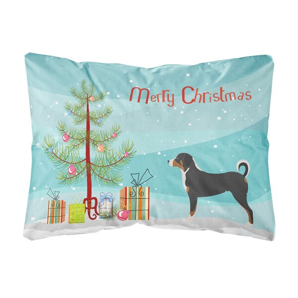 Lurmont Appenzeller Sennenhund Christmas Indoor/Outdoor Throw Pillow by The Holiday Aisle