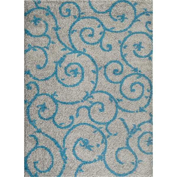 Birdsall Turquoise/Gray Area Rug by Andover Mills