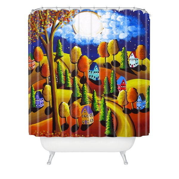 Fall Night Shower Curtain by East Urban Home