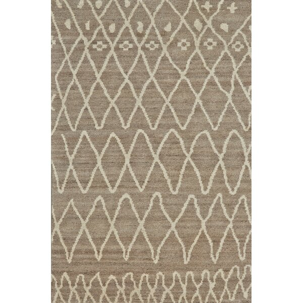 Bluestem Hand-Knotted Natural/Slate Area Rug by Union Rustic