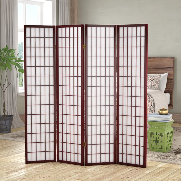 Vavra 4 Panel Room Divider by World Menagerie