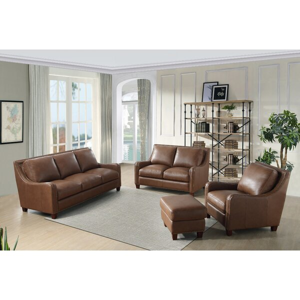 Randall Leather Configurable Living Room Set by 17 Stories