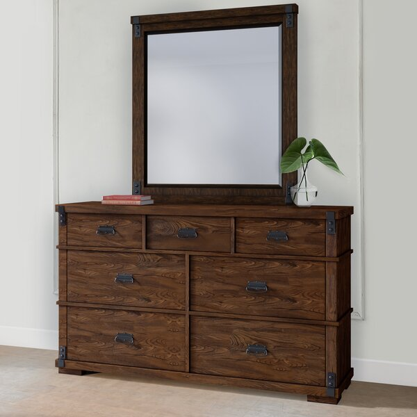 Duron 7 Drawer Double Dresser with Mirror by Millwood Pines