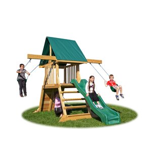 Swing Set With Climbing Wall Wayfair