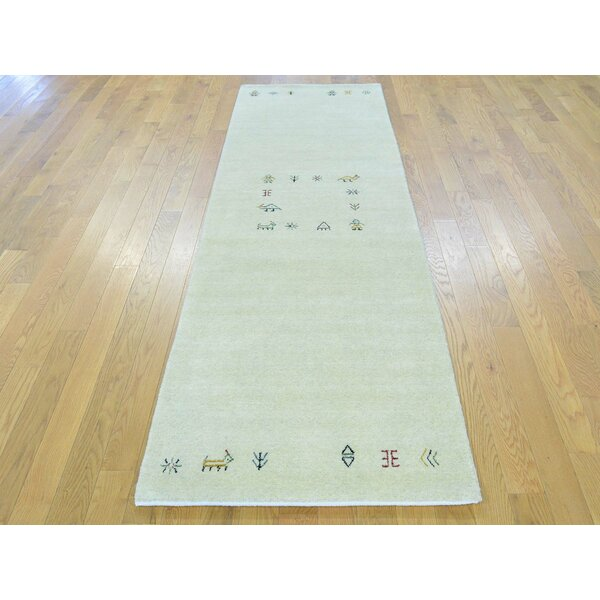 One-of-a-Kind Becker Lori Buft Handwoven Beige Wool Area Rug by Isabelline