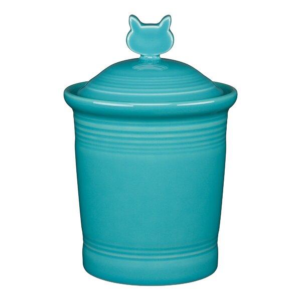 Cat Pet Treat Jar by Fiesta