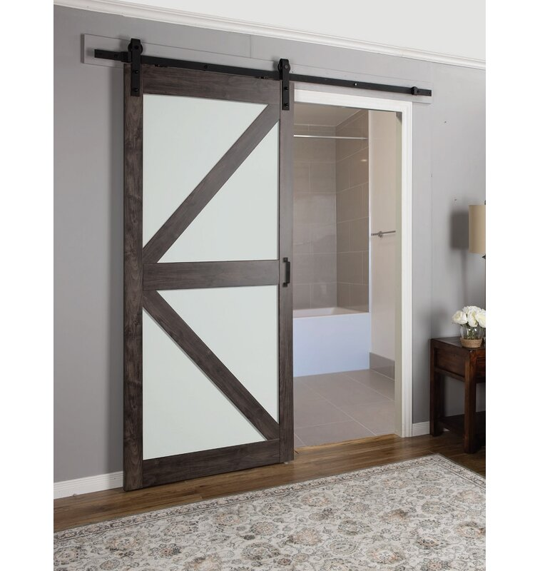 Glass Barn Sliding Doors: Erias Home Designs Continental Frosted Glass 1 Panel