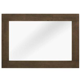George Oliver Burson Wood Frame Mirror in Walnut