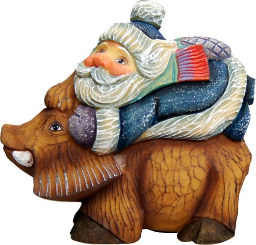 Fifield Santa on Boar Figurine Ornament by The Holiday Aisle