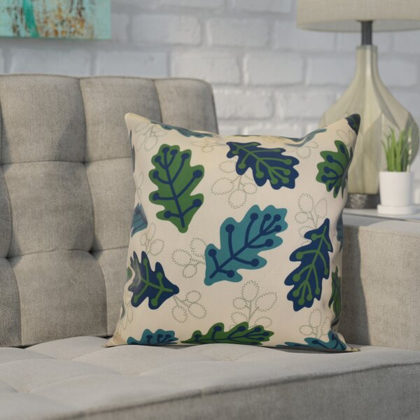 Avalos Retro Leaves Floral Outdoor Throw Pillow by Ivy Bronx
