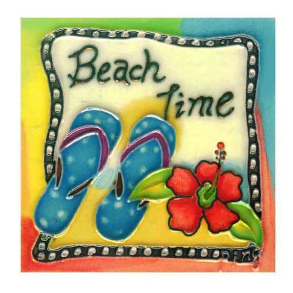 Beach Time Tile Wall Decor by Continental Art Center