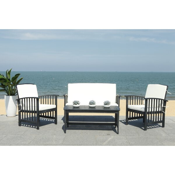 Simmons Outdoor 4 Piece Sofa Seating Group with Cushions by Mistana