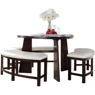 anton 4 piece dining set bench kitchen  u0026 dining room sets you u0027ll love   wayfair  rh   wayfair com