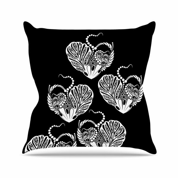 Maria Bazarova Heart Love Outdoor Throw Pillow by East Urban Home