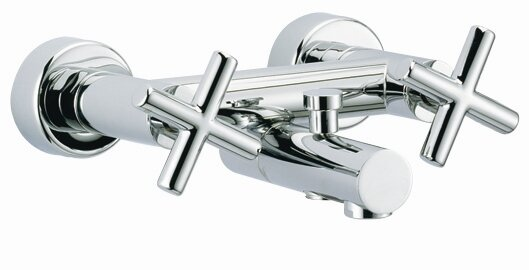 Maxima Double Handle Wall Mount Tub Only Faucet Trim Cross Handle by Fima by Nameeks