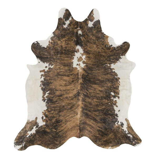 Exotic Brazilian Giant Size Brindle Cowhide Hand-Woven Brown Area Rug by Rodeo