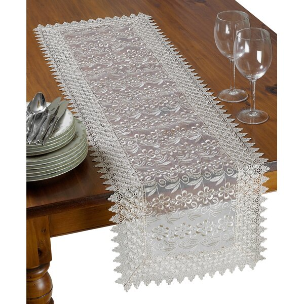 Jaylen Decorative Floral Lace Table Runner by Astoria Grand