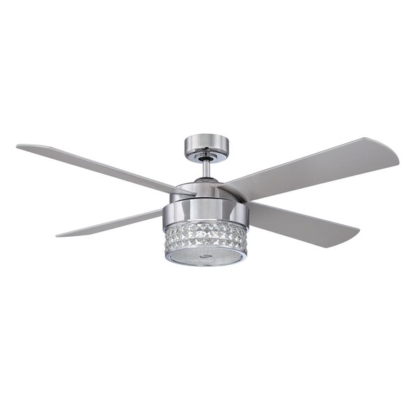 52 Cason 4-Blade Celling Fan with Wall Remote by House of Hampton