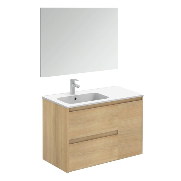 Ambra 36 Wall Mounted Single Bathroom Vanity Set with Mirror by WS Bath CollectionsAmbra 36 Wall Mounted Single Bathroom Vanity Set with Mirror by WS Bath Collections