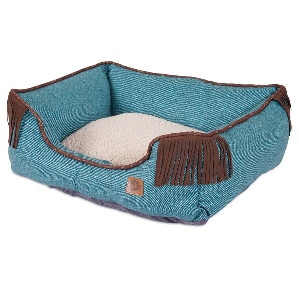 Lambswool Corner Fringe Printed Lounger Bolster Dog Bed by MuttNation Fueled By Miranda Lambert