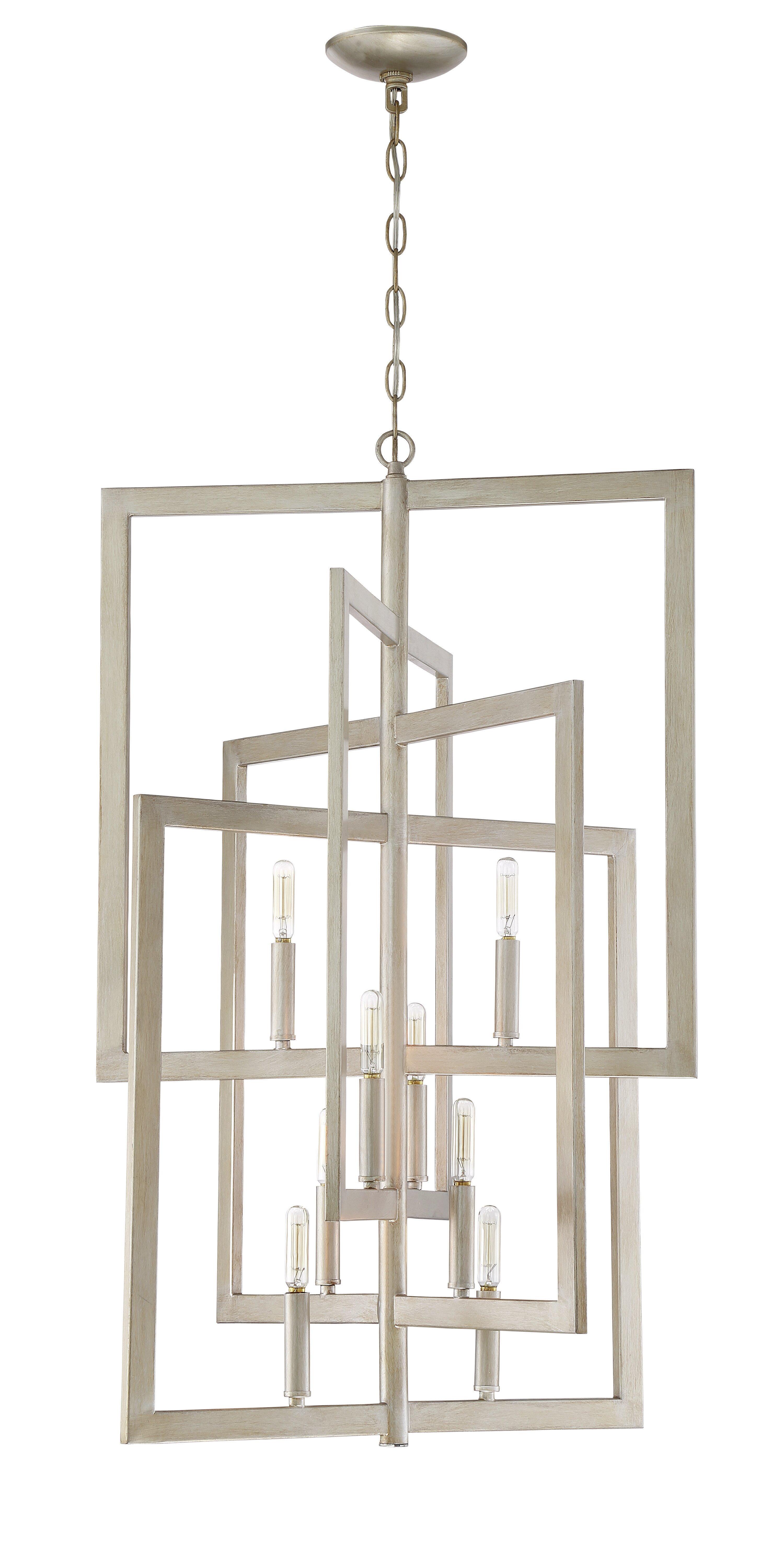 Wade Logan Dendron 8 Light Candle Style Geometric Chandelier Reviews Wayfair Ca