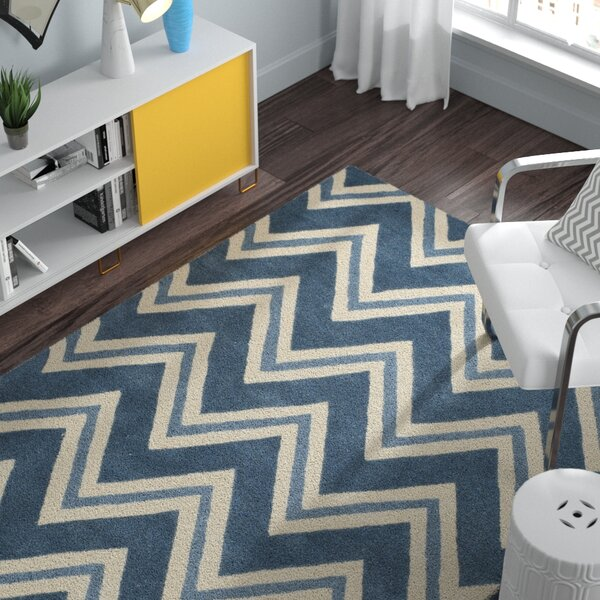Charlenne Hand-Tufted Navy/Ivory Area Rug by Zipcode Design