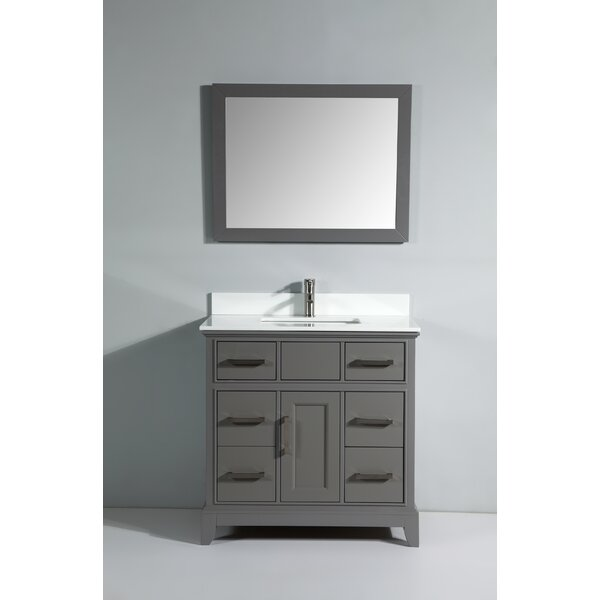 Junie Stone 36 Single Bathroom Vanity with Mirror by Gracie Oaks
