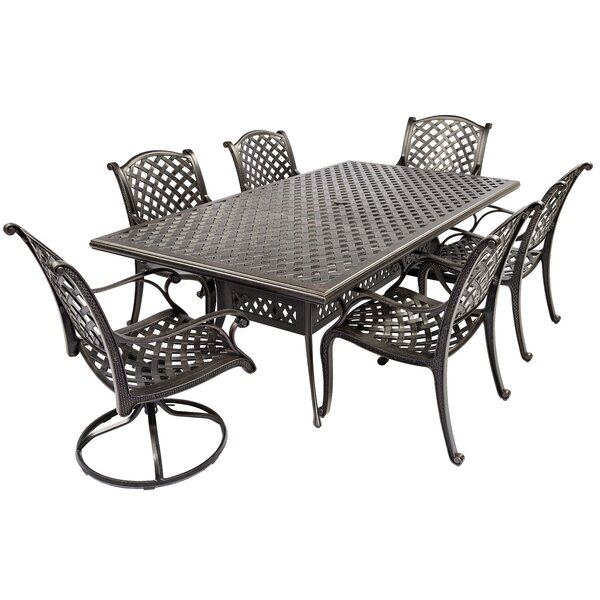 Peniste 7 Piece Dining Set by Canora Grey