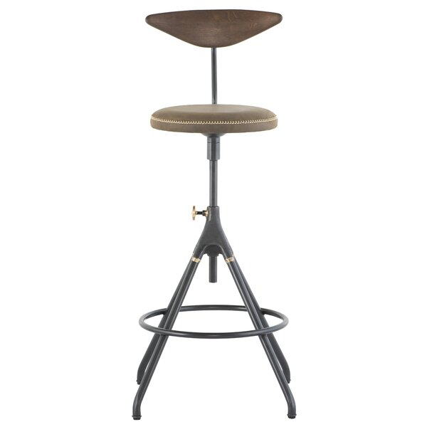 Akron Adjustable Height Swivel Bar Stool By District Eight Design