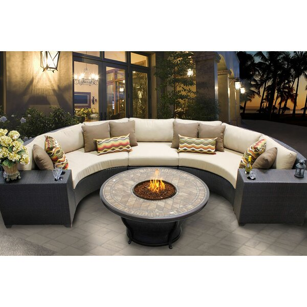 Tegan 6 Piece Sectional Seating Group with Cushions by Sol 72 Outdoor