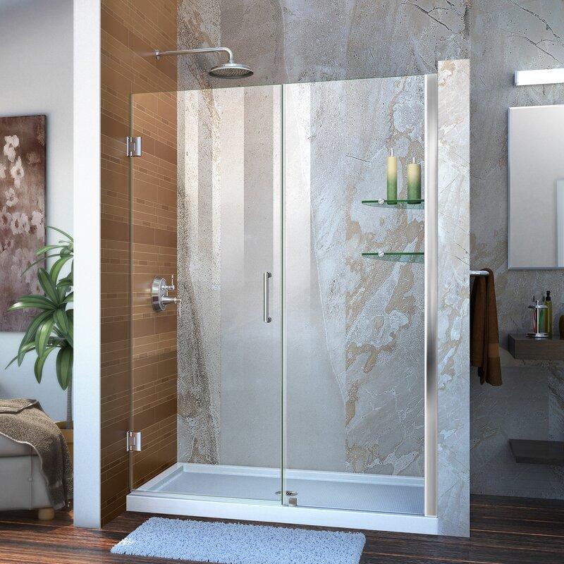 Dreamline Unidoor 48 X 72 Hinged Frameless Shower Door With